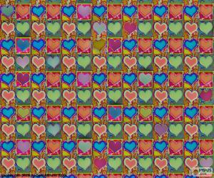 Herzen-Papier puzzle