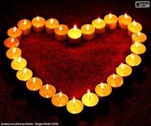 Herzen von Kerzen puzzle
