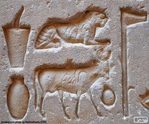 Hieroglyphischen Schnitzereien puzzle