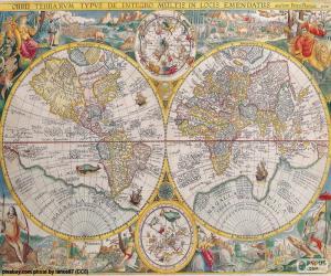Historische Karte der Welt puzzle