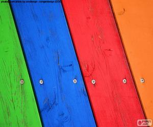 Holz in verschiedenen Farben puzzle