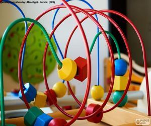 Holz und Metall Spielzeug puzzle