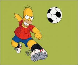 Homer Simpson Fußball spielen puzzle