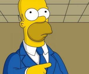 Homer Simpson sehr elegant puzzle