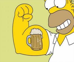 Homer Simpson stolz auf seine Stärke puzzle