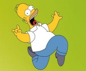 Homer Simpson Weglaufen Angst puzzle