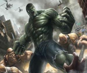 Hulk die mit einem praktisch unbegrenzte Macht ist einer der berühmtesten Superhelden puzzle