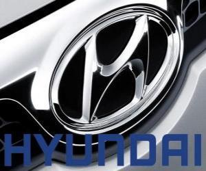 Hyundai-Logo, Marke des Autos in Südkorea puzzle