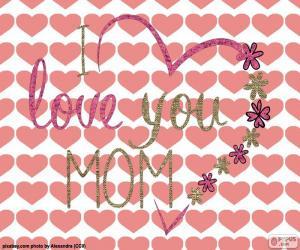 Ich liebe dich Mama puzzle