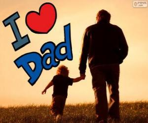Ich liebe dich Papa puzzle