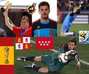 Iker Casillas (der Heilige von Móstoles) spanische Team Torhüter oder Torwart puzzle