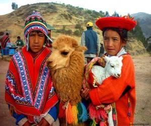 Inca traditionelle Kleider puzzle