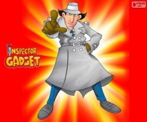 Inspector Gadget ist wie der berühmte Inspector Closeau gekleidet puzzle