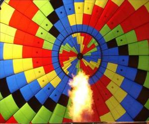 Interieur eines Ballons mit der Flamme puzzle