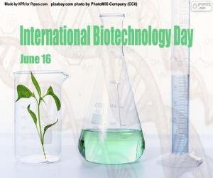 Internationaler Tag der Biotechnologie puzzle