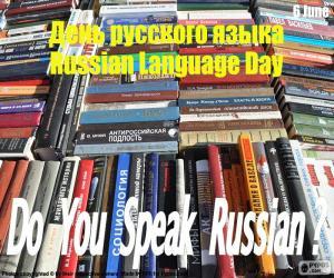 Internationaler Tag der russischen Sprache puzzle
