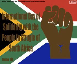Internationaler Tag der Solidarität mit dem Volk im Kampf Südafrikas puzzle