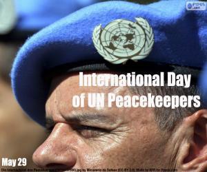Internationaler Tag der UN-Friedenstruppen puzzle