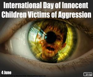 Internationaler Tag der unschuldigen Kinder als Opfer von Aggression puzzle