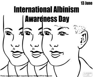 Internationaler Tag des Albinismus puzzle