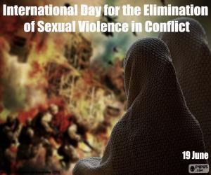 Internationaler Tag für die Beseitigung von sexueller Gewalt in Konflikten puzzle