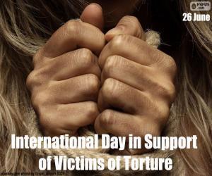 Internationaler Tag zur Unterstützung von Folteropfern puzzle
