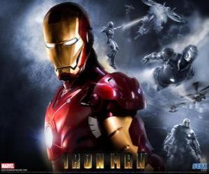 Iron Man oder Eisenmann hat eine sehr starke Rüstung, die ihn fliegen lässt, gibt es eine übermenschliche Kraft und speziellen Waffen zur Verfügung puzzle