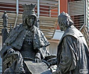 Isabel la Católica und Christoph Kolumbus puzzle
