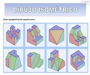 Isometrische Zeichnungen puzzle