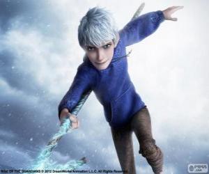 Jack Frost, ist ein übernatürliches Wesen. Figur aus Die Hüter des Lichts puzzle