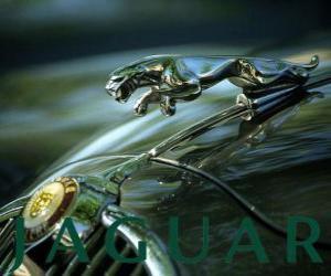 Jaguar-Logo, britische Marke von Luxus-und Sportwagen puzzle
