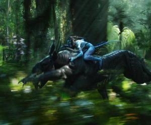Jake Reiten ein geflügeltes Tier als toruk bekannt, die gefährlichsten Wesen der Pandora. puzzle