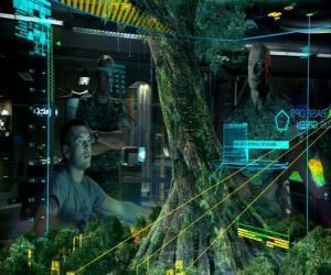 Jake Sully und Oberst Quaritch die Untersuchung der Mutter Tree puzzle