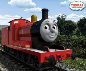 James, der herrlichen Lok Nummer 5 in der roten Farbe puzzle