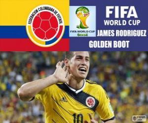 James Rodriguez, Goldener Schuh. Brasilien 2014 FIFA Fußball-Weltmeisterschaft puzzle