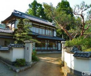 Japanischen traditionellen Haus puzzle