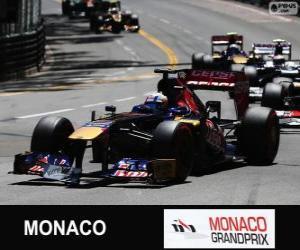 Jean-Eric Vergne - Toro-Rosso - Monte-Carlo-2013 puzzle