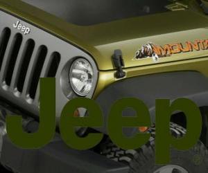 Jeep-Logo, Geländewagen Marke aus den USA puzzle