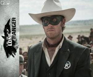 John Reid (Armie Hammer) in dem Film Lone Ranger puzzle