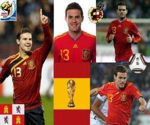 Juan Mata (The Magic Sprunggelenk) Spanish National Team nach vorne puzzle