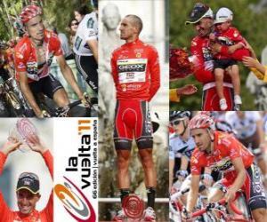Juanjo Cobo (GEOX) Champion der Tour von Spanien 2011 puzzle