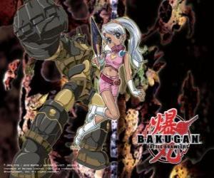 Julie und ihre Gorem Subterra Guardian Bakugan puzzle