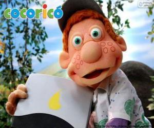 Julio, der Junge auf dem Bauernhof Cocorico puzzle