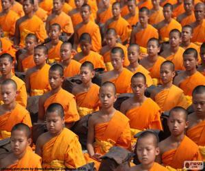Junge buddhistische Mönche puzzle