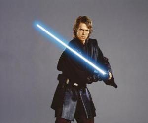 Jungen Anakin Skywalker mit dem Lichtschwert puzzle