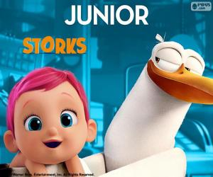 Junior, der Storch protagonist puzzle