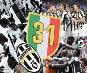 Juventus Turin, Meister Serie A Lega Calcio 2012-2013, italienische Fußball-Liga puzzle