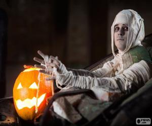 Kürbis und Mumie, Halloween puzzle