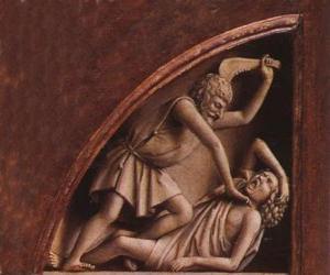 Kain, der Erstgeborene von Adam und Eva, die zum Zeitpunkt der Tötung seines Bruders Abel puzzle