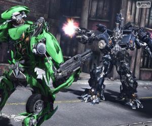 Kampf zwischen zwei Transformers puzzle